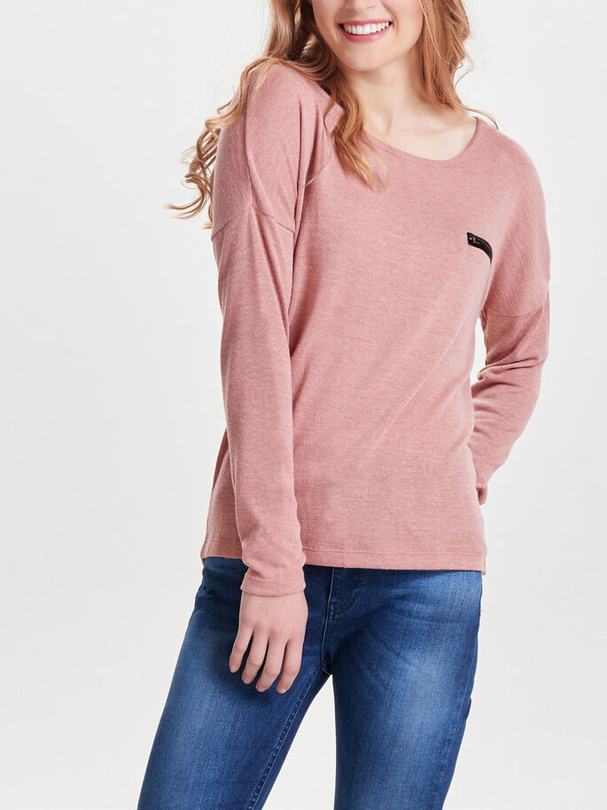 AVEC FINITIONS PULL EN MAILLE, Ash Rose, large