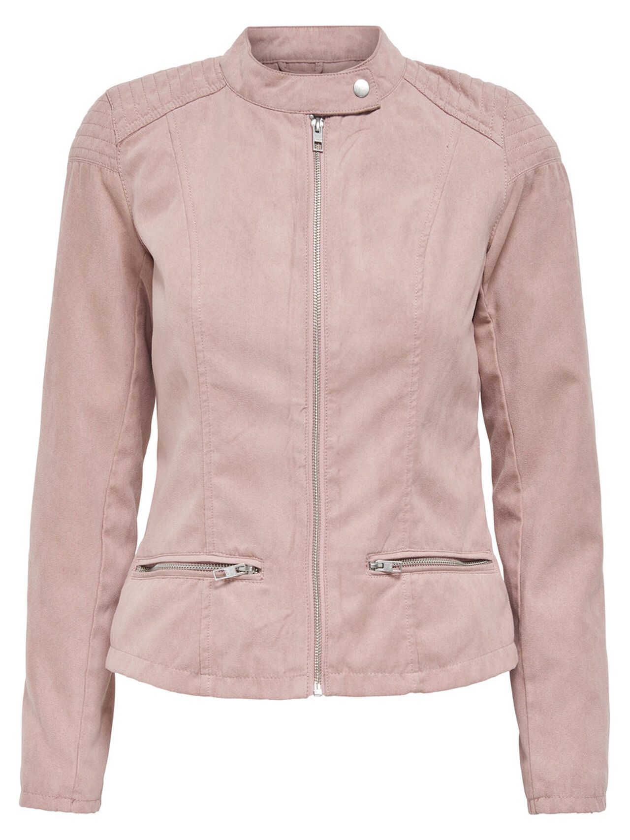 ONLY Suede Look Biker Jacket Women Pink