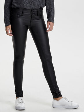 ANEMONE LOW COATED JEAN SKINNY