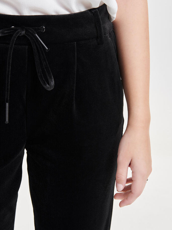 VELOURS- HOSE, Black, large