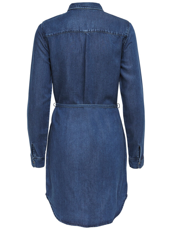 LANGÄRMELIGES JEANSKLEID, Medium Blue Denim, large
