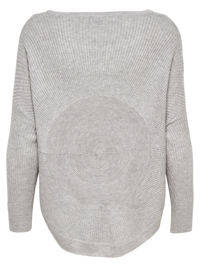 DETAILLIERTER STRICKPULLOVER, Light Grey Melange, large