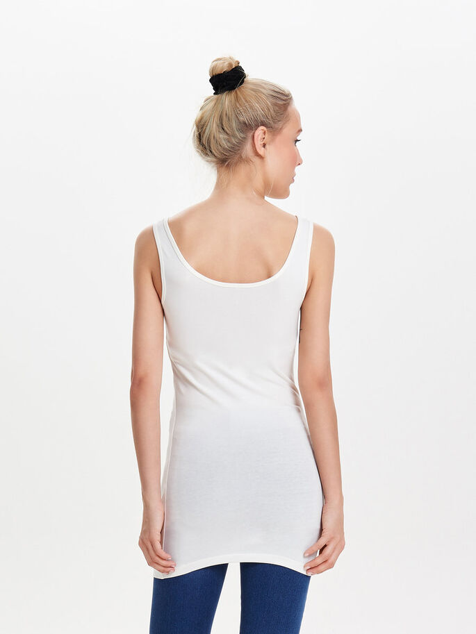 BASIC LONG TANK TOP, CLOUD DANCER, large