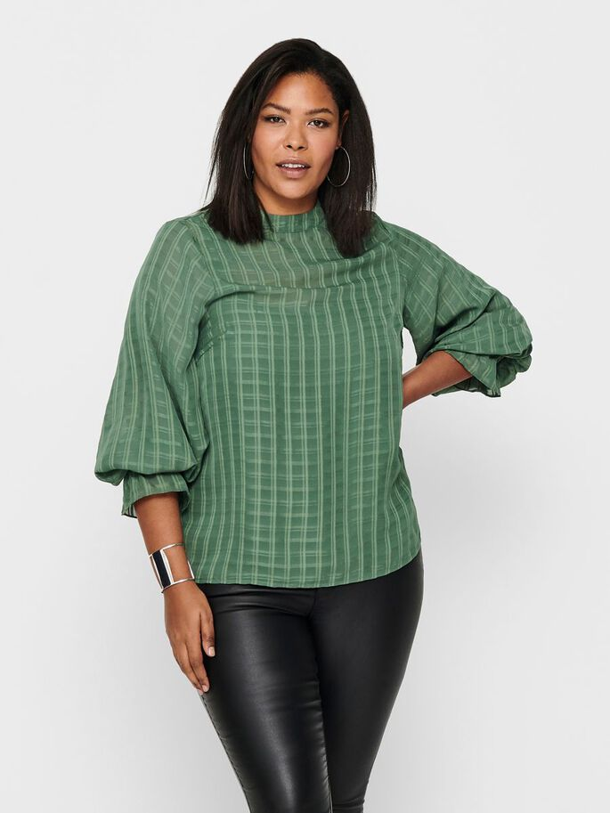 CURVY LONG SLEEVED TOP, Sea Spray, large