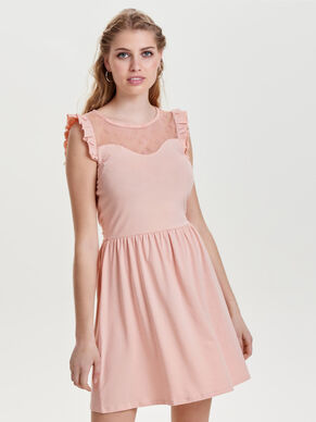 FRILL SLEEVELESS DRESS