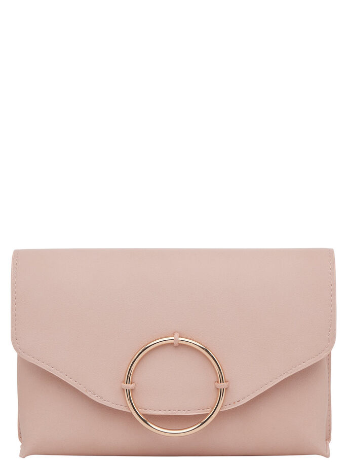 DETALJERET CLUTCH, Peachy Keen, large