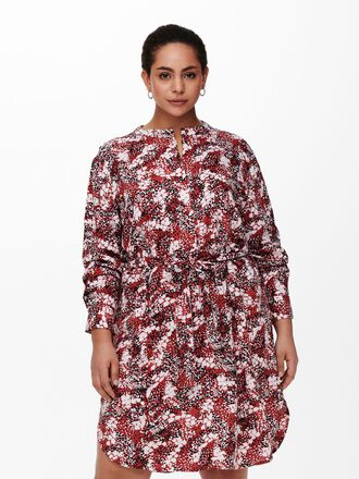 CURVY PRINTED SHIRT DRESS