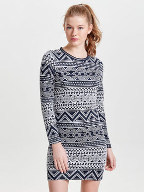 PRINTED LONG SLEEVED DRESS
