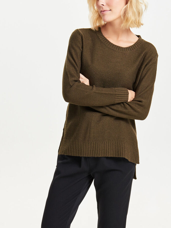 LOOSE KNITTED PULLOVER, Wren, large