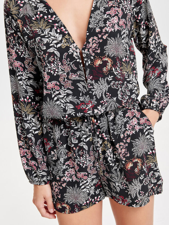 BEDRUCKTER PLAYSUIT, Black, large