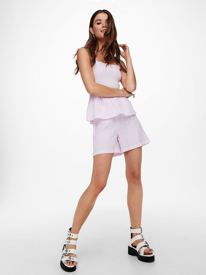 LOOSE FITTED SHORTS, Cloud Dancer, large
