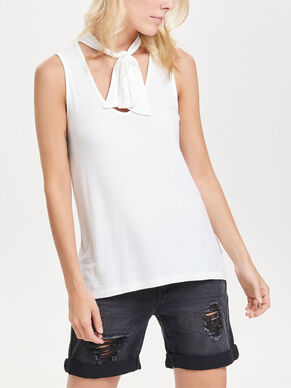 BOW SLEEVELESS TOP