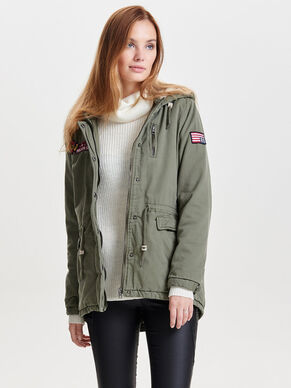 BADGE PARKA COAT