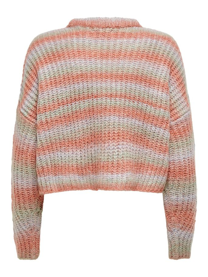 MULTICOLOR KNITTED PULLOVER, Blue Fog, large