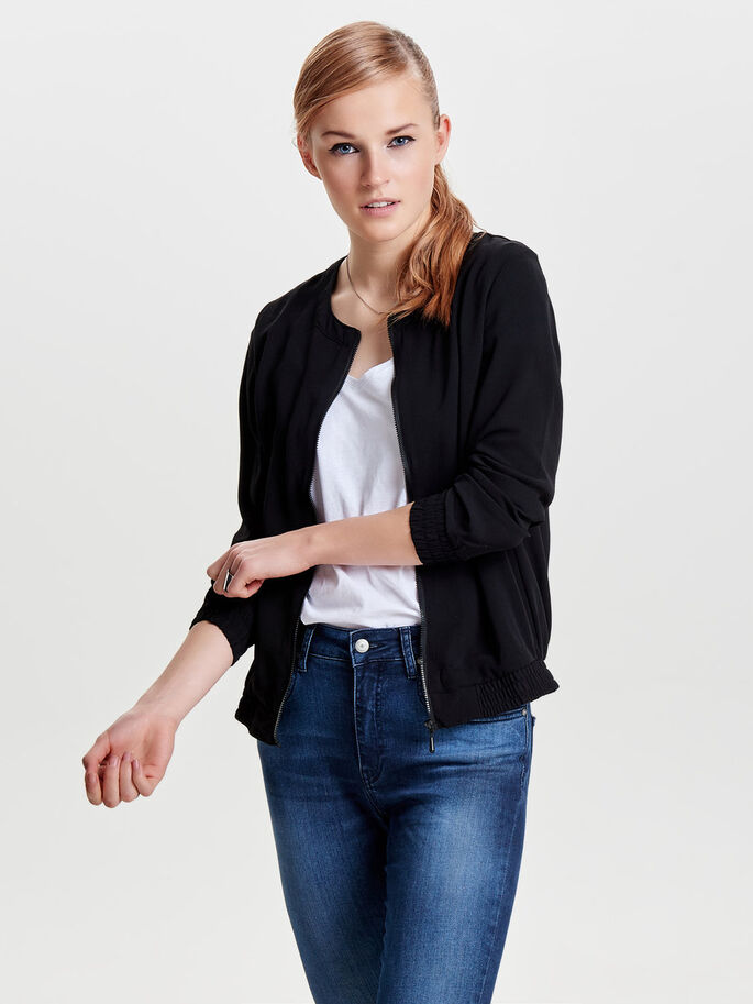 BOMBER JAKKE, Black, large