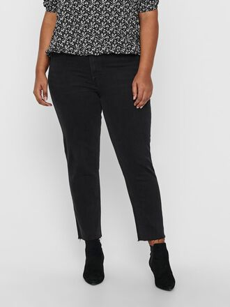 CURVY CARMILY HW ANKLE STRAIGHT FIT JEANS
