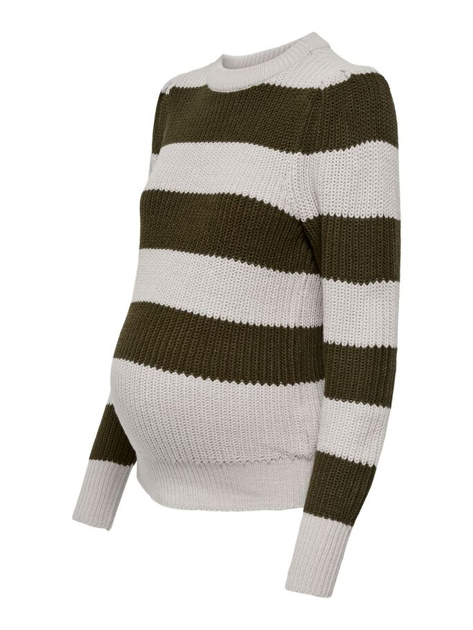 MAMA MANCHES BOUFFANTES PULL EN MAILLE, Pumice Stone, large