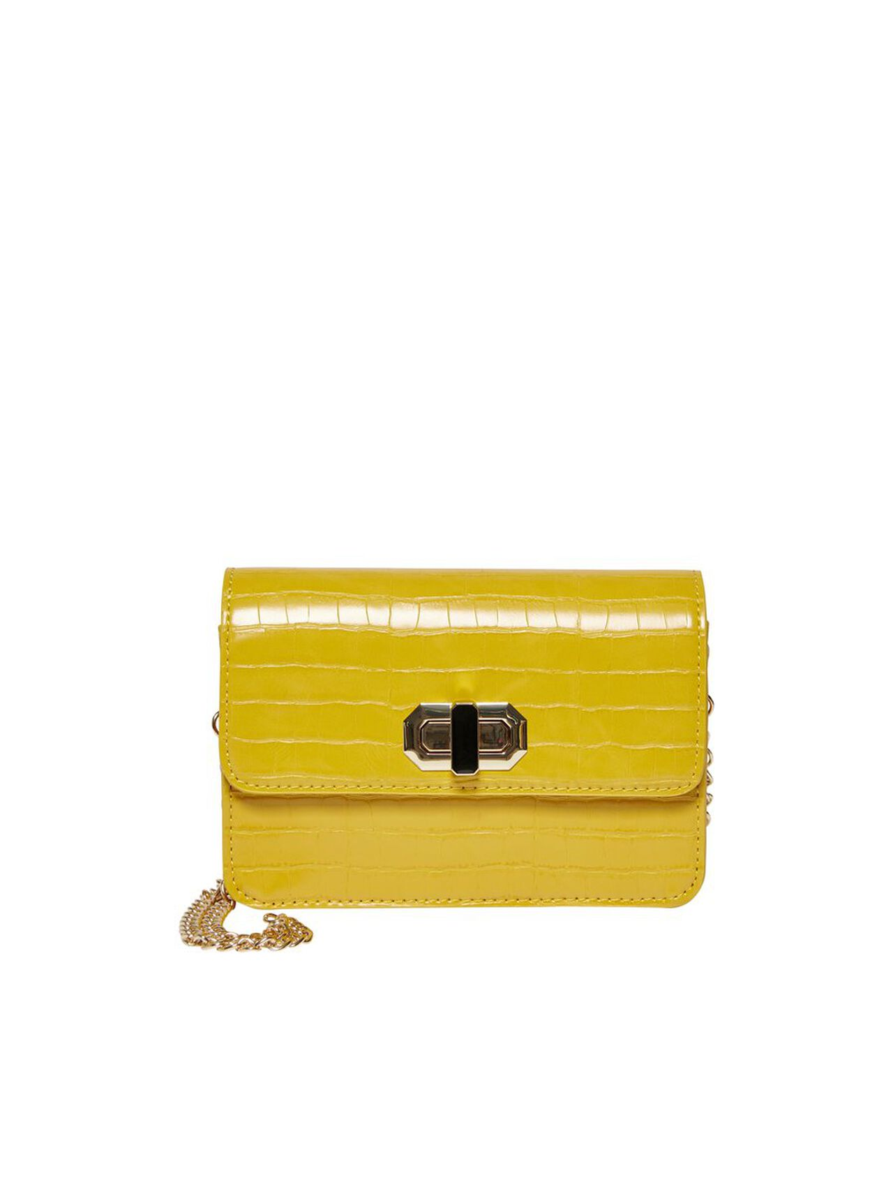 ONLY Leather Look Crossbody Bag Women Yellow
