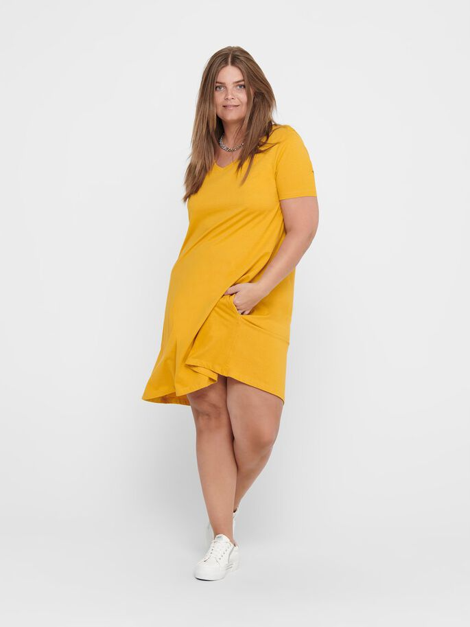 CURVY LOOSE FITTED DRESS, Golden Spice, large