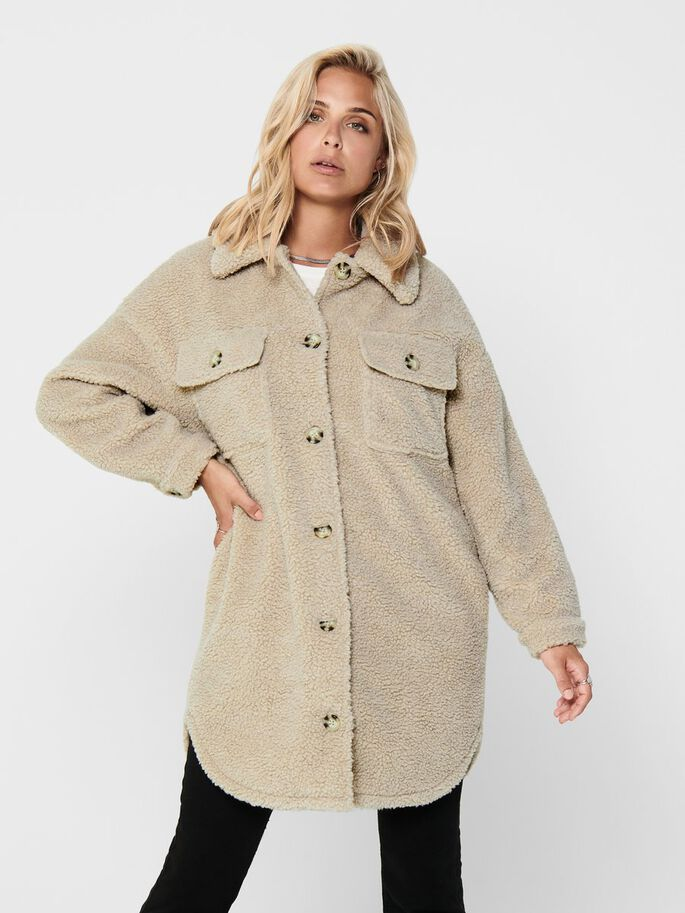 TEDDY SHIRT JACKET, Cement, large