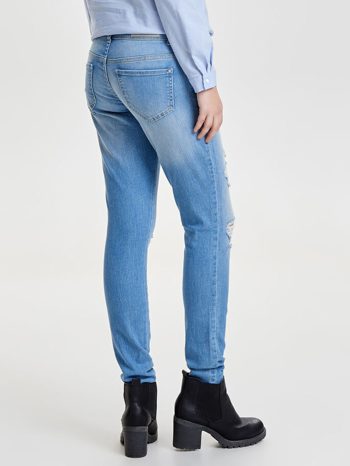 CORAL SUPERLOW JEAN SKINNY, Light Blue Denim, large