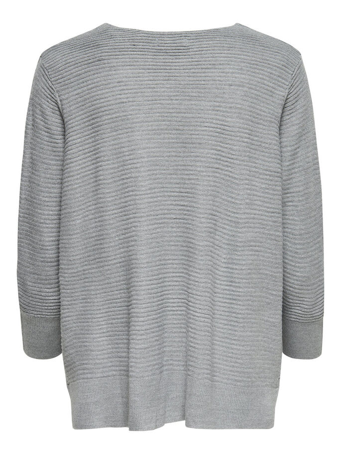 DETAILREICHES STRICKPULLOVER, Light Grey Melange, large