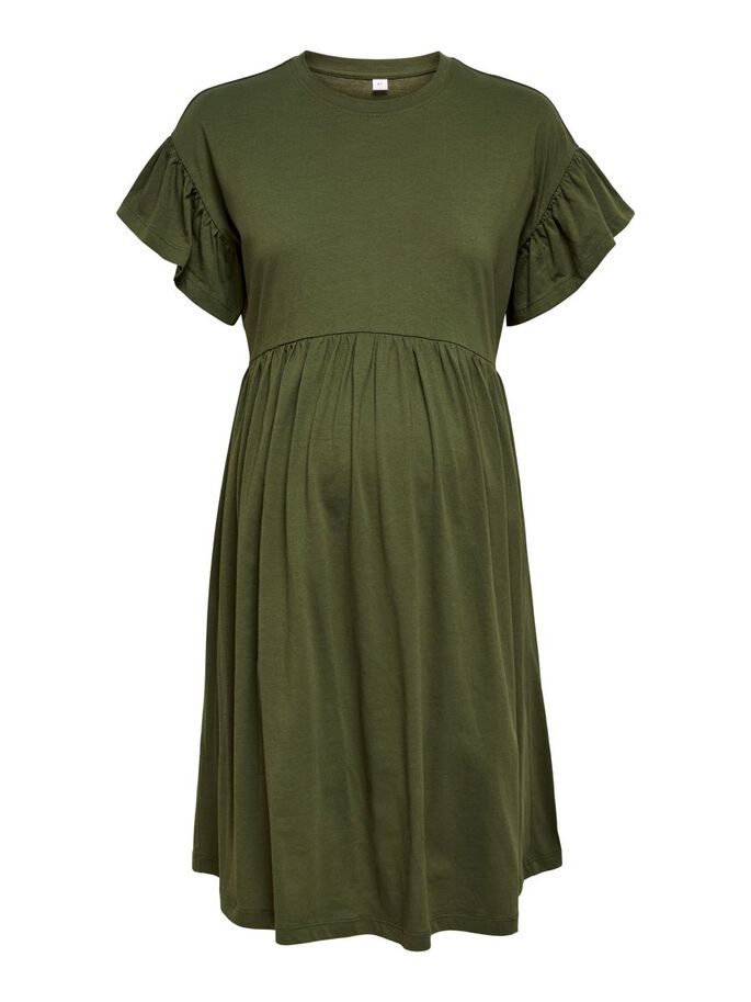 COULEUR UNIE ROBE, Olive Night, large