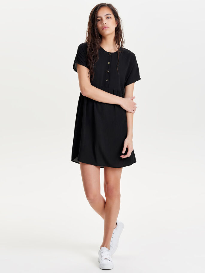 LOOSE DRESS, Black, large