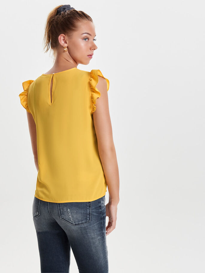 MOUWLOOS T-SHIRT, Yolk Yellow, large