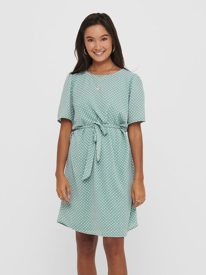 DOTTED DRESS, Blue Surf, large