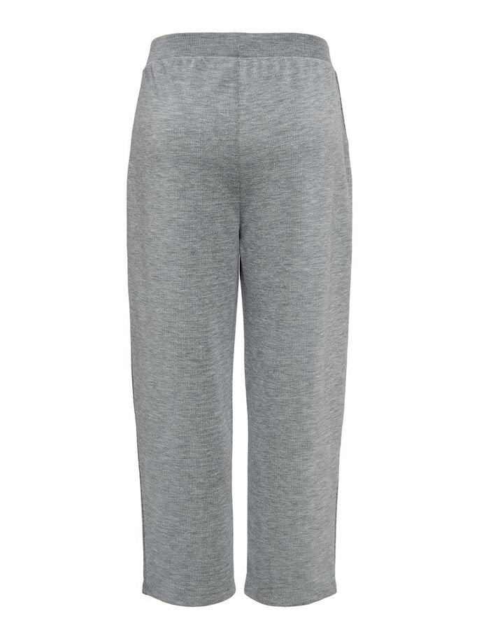 WIDE TROUSERS, Light Grey Melange, large