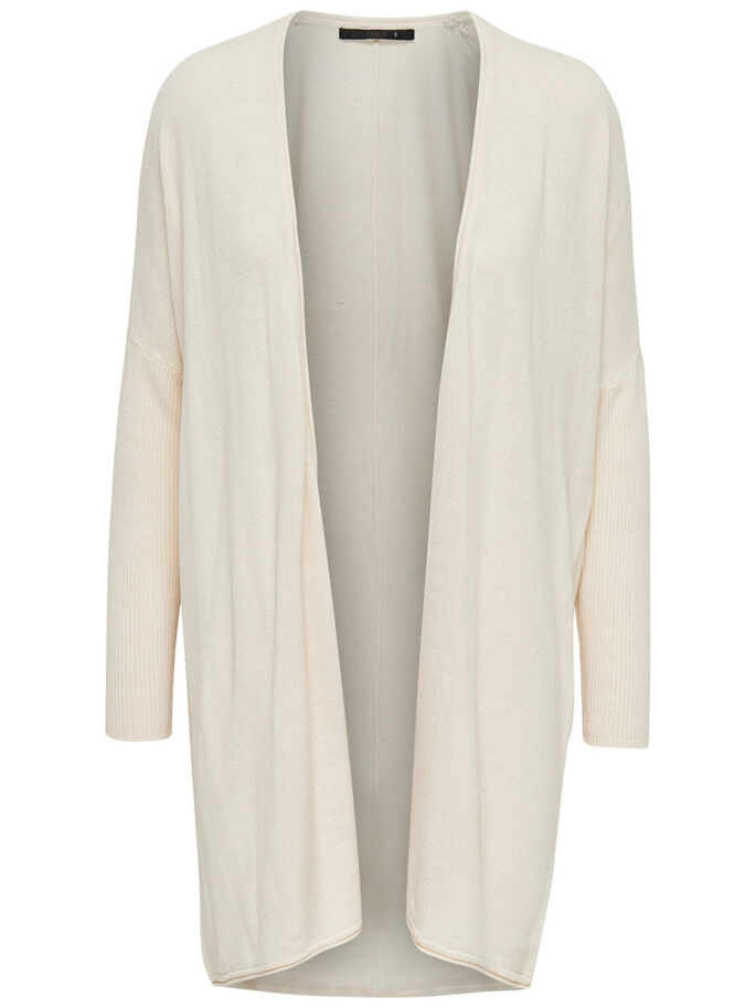 OVERSIZE STRIKKET CARDIGAN, Cloud Dancer, large