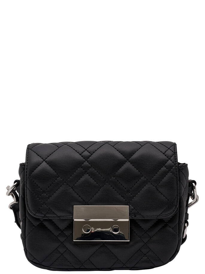 QUILTED CROSSBODY BAG, Black, large