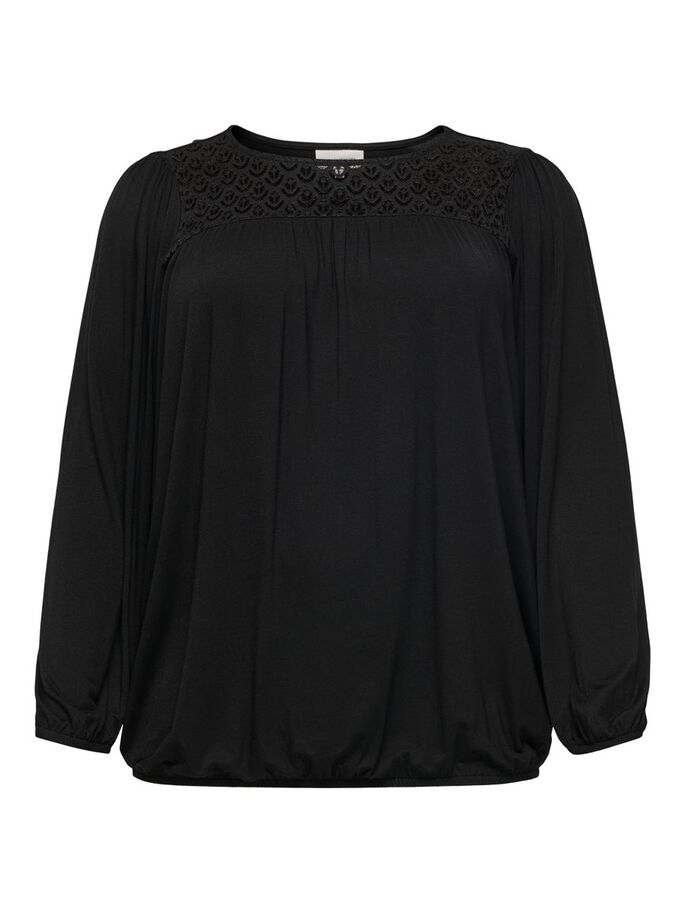 CURVY LOOSE FITTED TOP, Black, large
