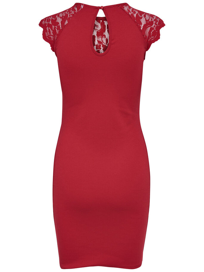 DENTELLE ROBE SANS MANCHES, Jester Red, large
