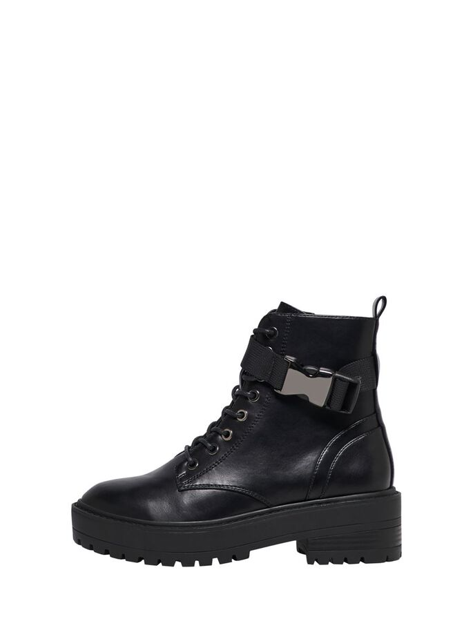 LACE UP BOOTS, Black, large