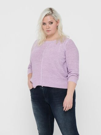 CURVY TEXTURE KNITTED PULLOVER