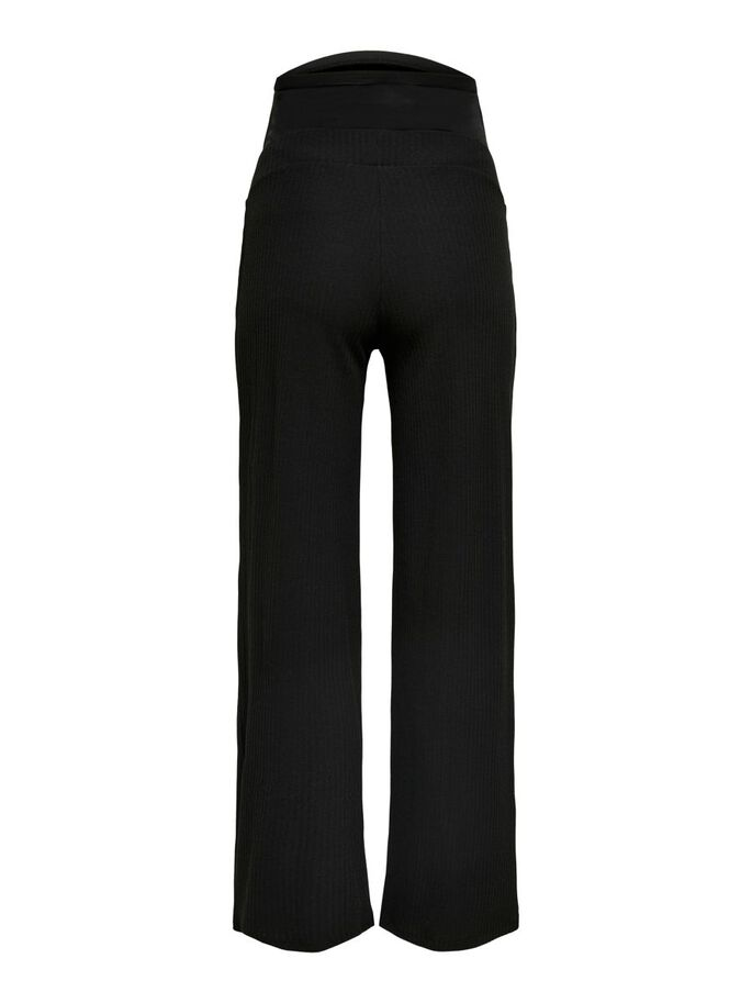 MAMA WIDE FITTED TROUSERS, Black, large