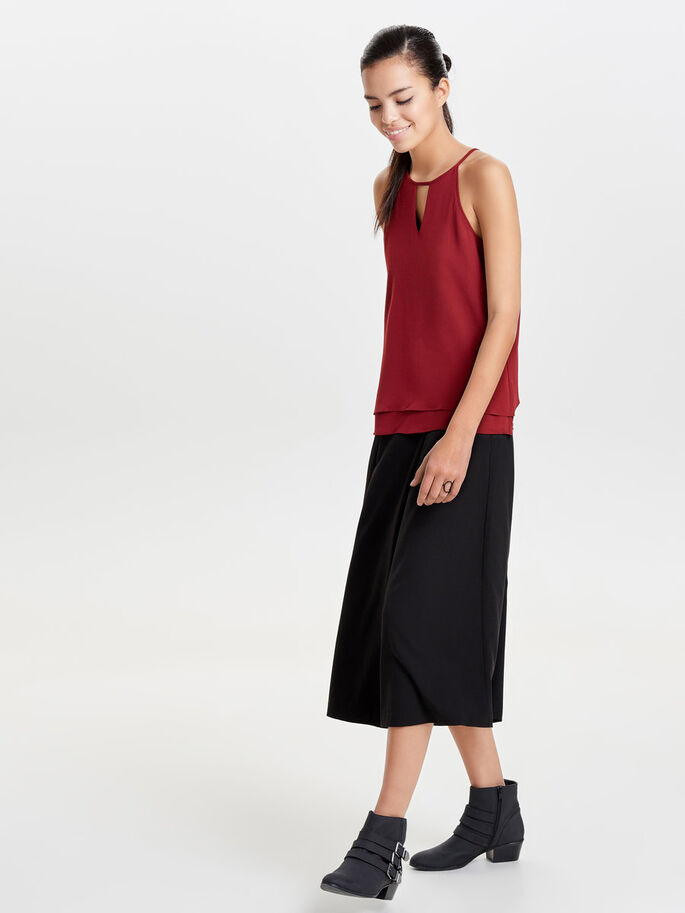 DETAILED SLEEVELESS TOP, Syrah, large