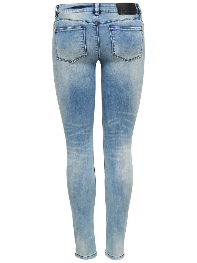 CORAL SUPERLOW SKINNY JEANS, Light Blue Denim, large