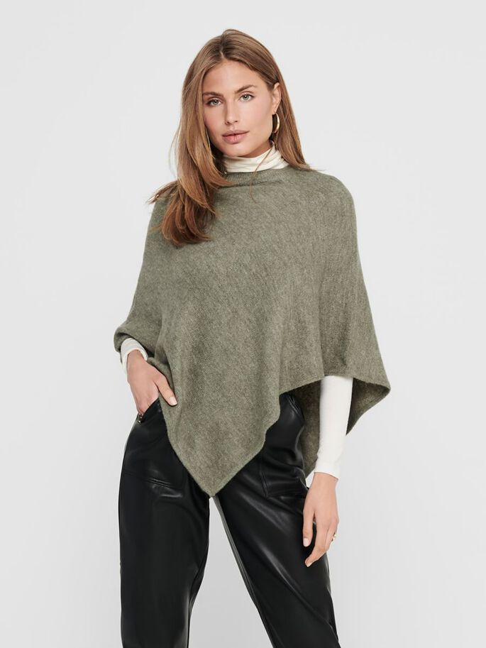 STRICK PONCHO, Mermaid, large
