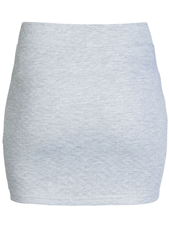SHORT QUILTED SKIRT, Light Grey Melange, large