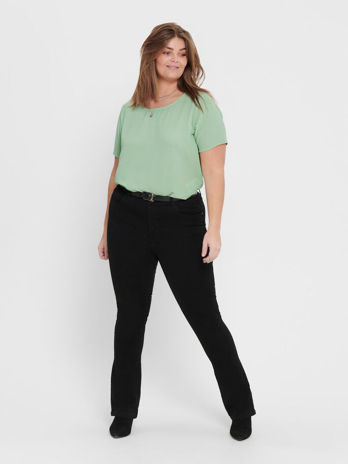 CURVY SOLID COLORED TOP, Frosty Green, large