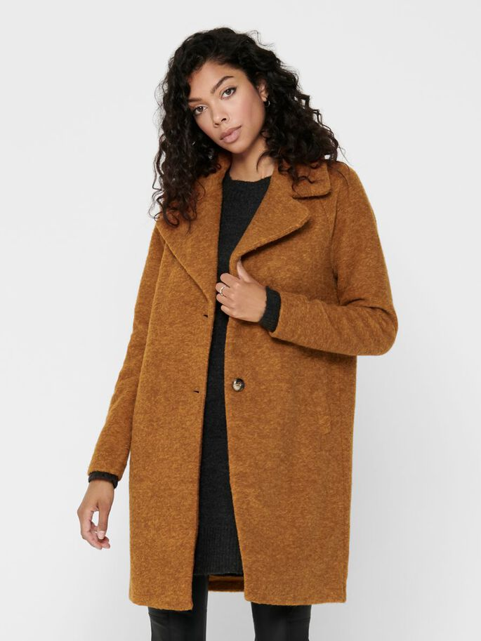 WOOL COAT, Pumpkin Spice, large