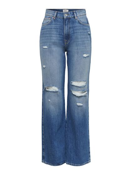 ONLMILOH LIFE EX HW WIDE FLARED JEANS