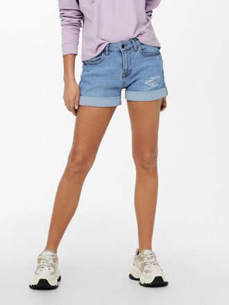 JDYTYSON LIFE REG SHORT FOLD UP DENIM SHORTS