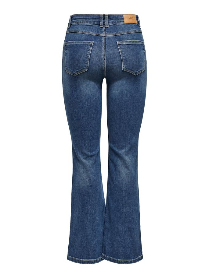 JDYNEW FLORA NEELA LIFE HIGH FLARED JEANS, Medium Blue Denim, large