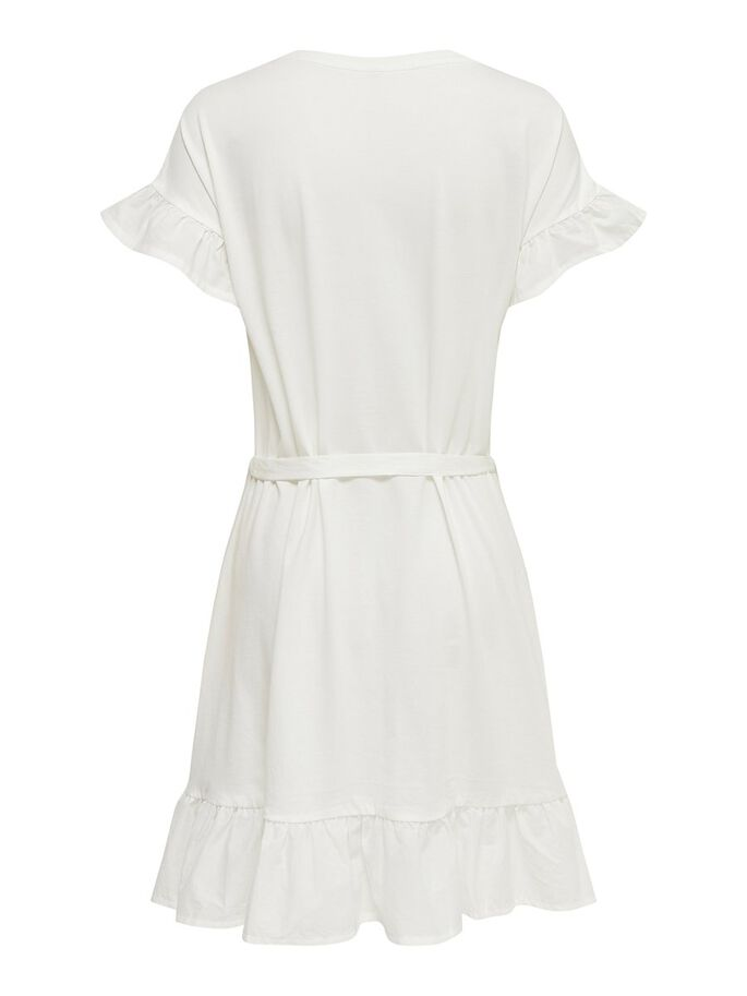 FRILL DETAIL DRESS, Cloud Dancer, large