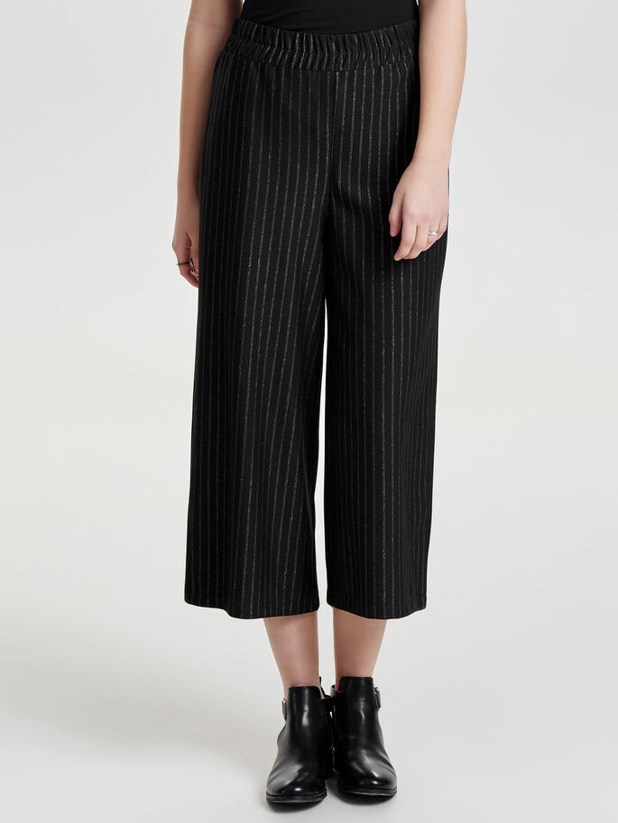 STRIPED TROUSERS, Black, large