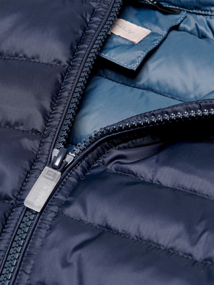 SOLID COLORED QUILTED JACKET, Night Sky, large